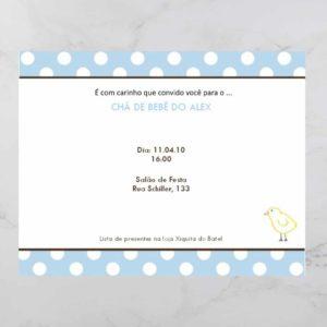 Convite cha de bebe/ Fralda modelo alex