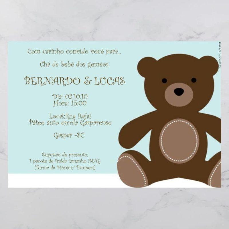Convite cha de bebe/fraldas