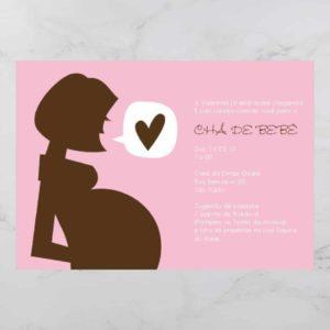Convite Chá Bebê/ Fraldas - Modelo Valentina