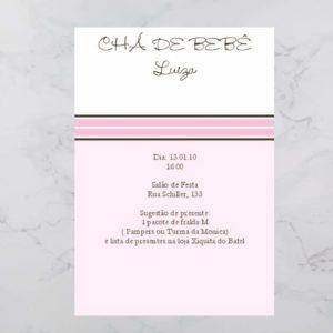 Convite Chá Bebê/ Fraldas - Modelo Luiza
