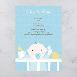 07 Convite Chá Bebê/ Fraldas