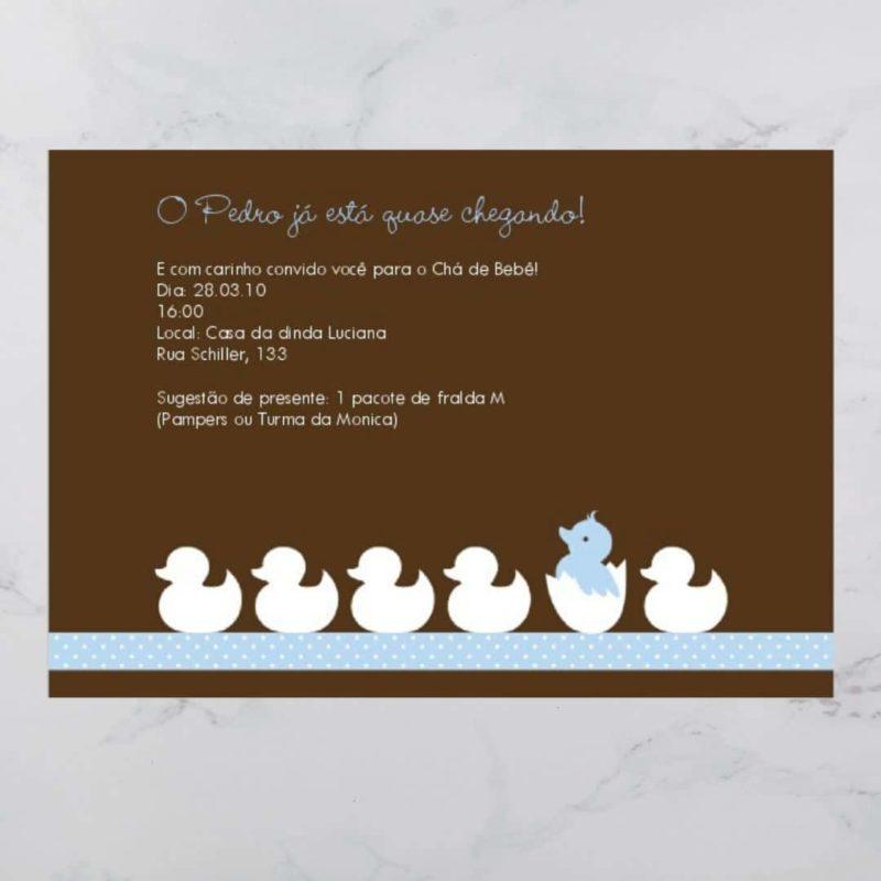 convite cha de bebe/ fralda modelo pietro