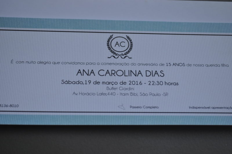 Convite 15 Anos 1