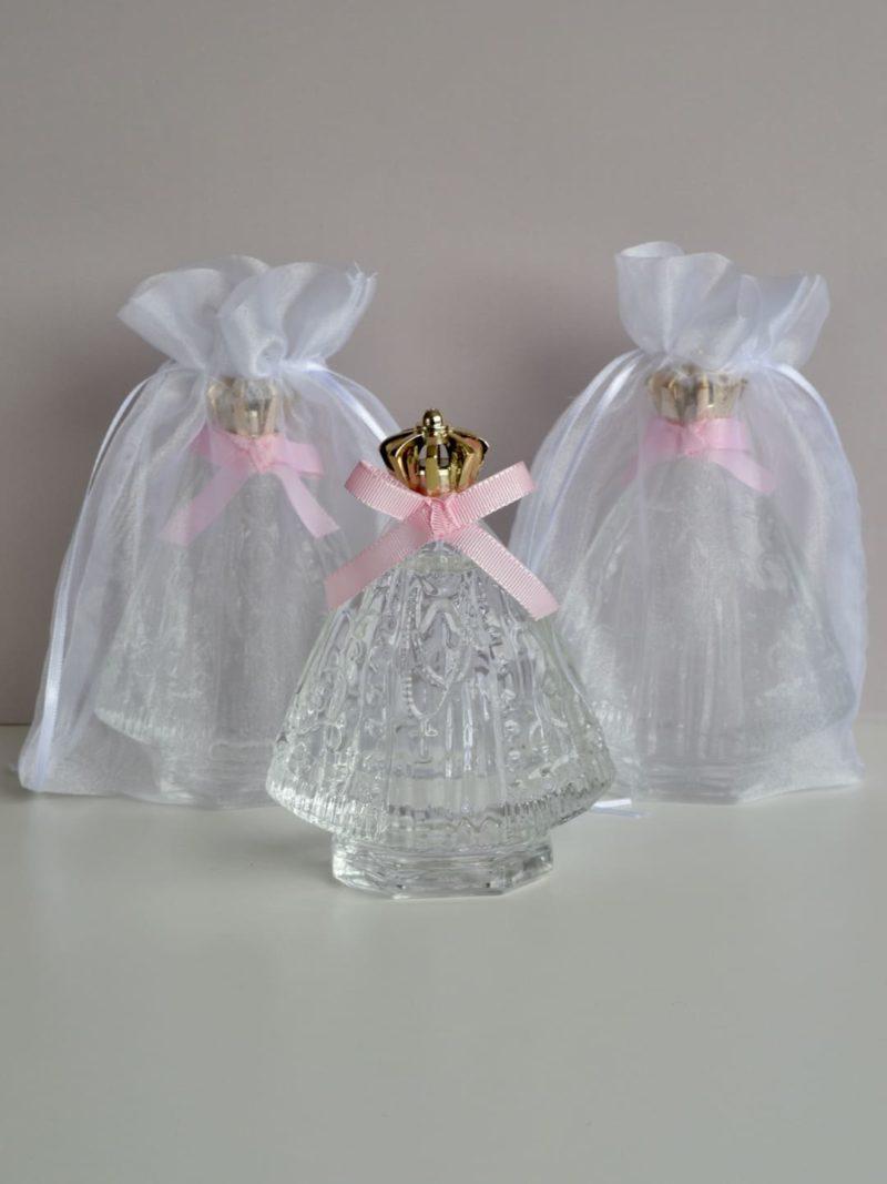 Agua benta - santinha com fita rosa e saquinho