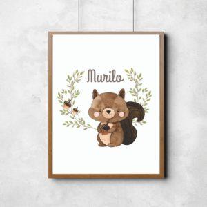 Quadro Bosque Encantado – Esquilo