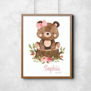 quadro ursinha