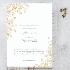 Gold Rose - Convite de casamento