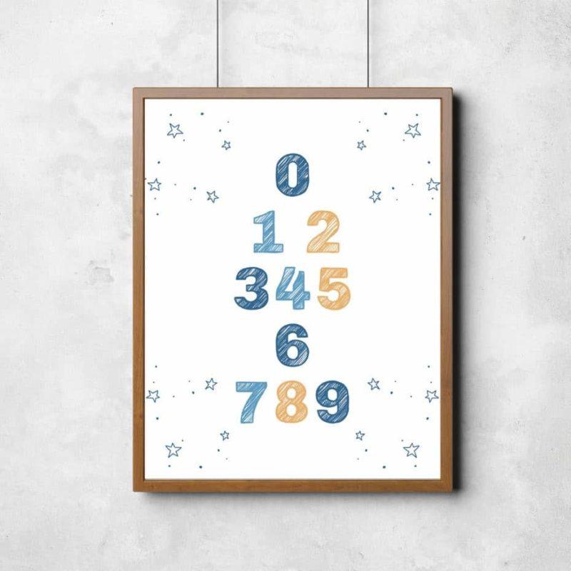 quadro decorativo com números