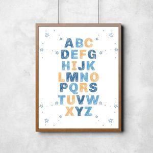 quadro decorativo alfabeto