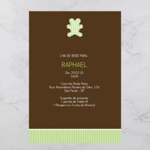 Convite Chá Bebê/ Fraldas - Modelo Raphael