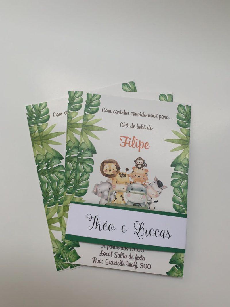 Convite Chá Bebê/ Fraldas - modelo Filipe