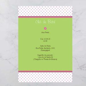 Convite Chá Bebê/ Fraldas - Modelo Ana Paula