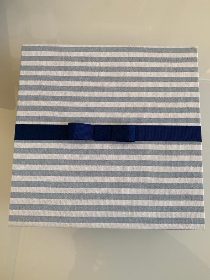 Tampa da caixa kit padrinho personalizado
