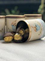 Lata Luxo com bombom Ferrero Rocher