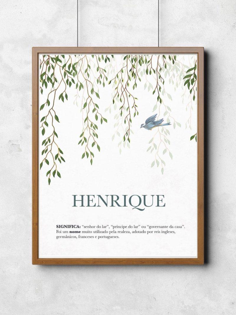 Quadro com significado do nome Henrique