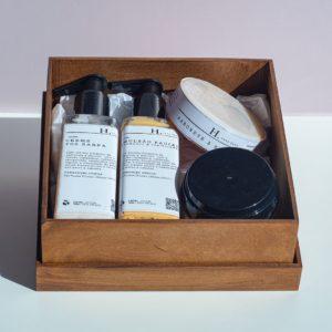 Kit Para Ele IV em caixa de madeira